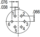 Pin Connector 6-6, 8-6