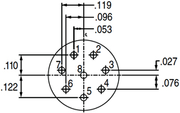 Pin Connector 8-28, 10-28