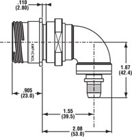 Square Flange Receptacle Right Angle 1