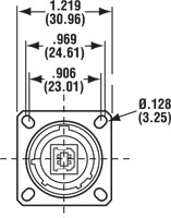 Square Flange Diagram 2