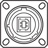 Square Flange Front View