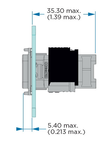 Box Mounting Receptacle Dimensions
