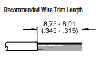 High Power Crimp Plug Recommended Wire Trim Length