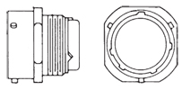 MS3471 Cable Receptacle Front/Side