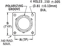 MS3472/PV72 Flanged Receptacle