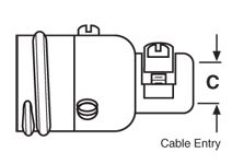 Straight Receptacle, Pin Contacts with Cable Clamp