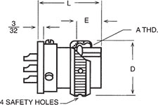 K-31S (Small Flange) Wall Mount Plug Dimensions