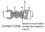 Machined Contacts Correct Crimp
