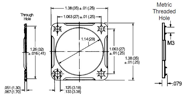 Connector Mounting Plate-8-10 Circuit Plug Dimensions