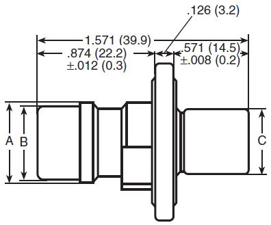 2-4 Circuit Flanged Plug Dimensions