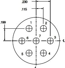 Pin Connector 15-7, 17-7, 19-7