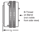 B Thread on Barrel