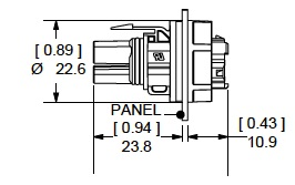 Female Panel Mount SK7-019M03