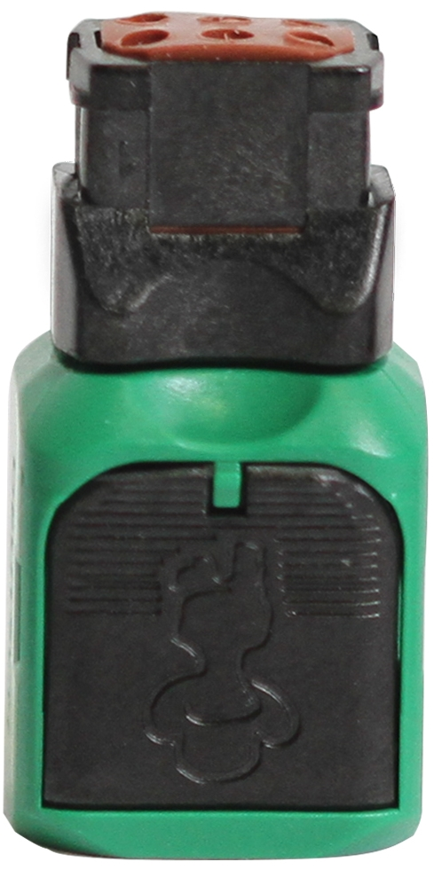 Green Connector Top View