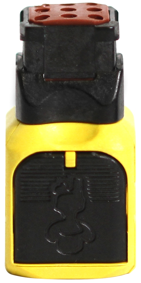 Yellow Connector Top View