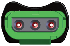 Green Connector Front View