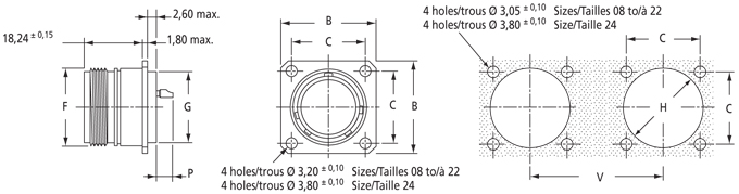 Square Flange- Hermetic Type 0