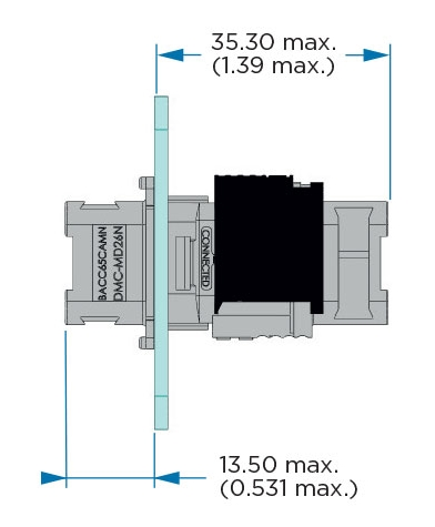 Extender Receptacle Dimensions