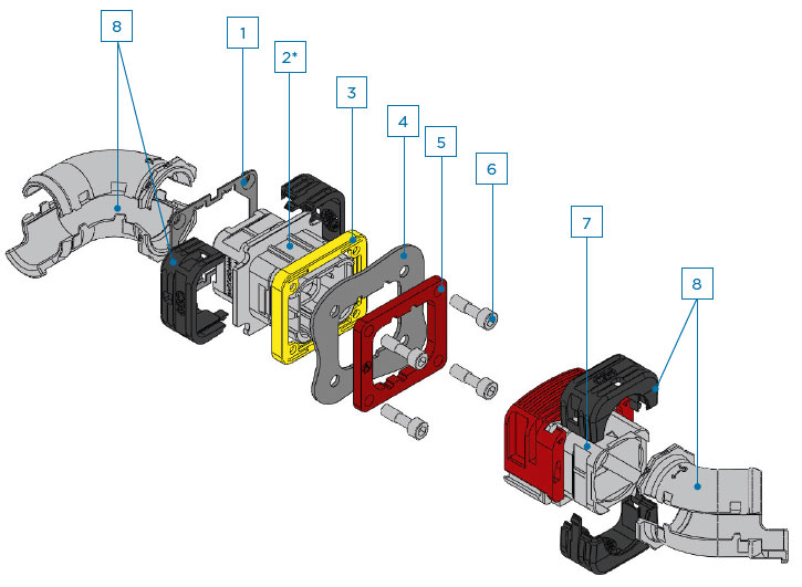 TE DEUTSCH Single Module EN4165 - Exploded View 2