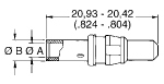 High Power Crimp Plug Dimensions