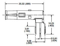 Receptacle-DM130321-3 Dimensions