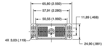 DL/DLM1-156 Receptacle Diagram