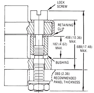 Screw Lock Assembly Dimensions