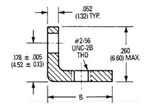 90º Angle Mounting Bracket Dimensions 2