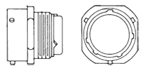 MS3474 Jam Nut Receptacle Front/Side
