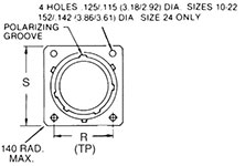 MS3470/PV70 Flanged Receptacle
