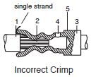 Machined Contacts Incorrect Crimp