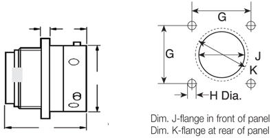 Ringlock Standard Flanged Receptacle