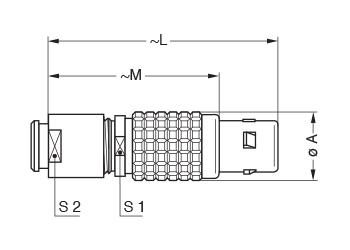 Metal Shell FGG 2 line drawing