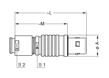 Metal Shell FEG line drawing