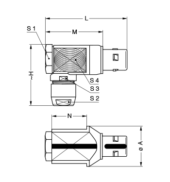Metal Shell FKG line drawing