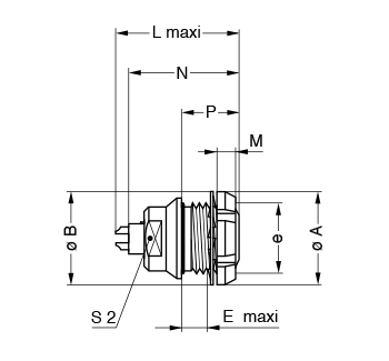 Metal Shell EFG line drawing