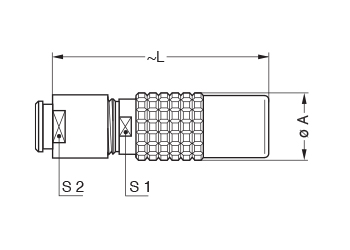 Metal Shell PHG 2 line drawing