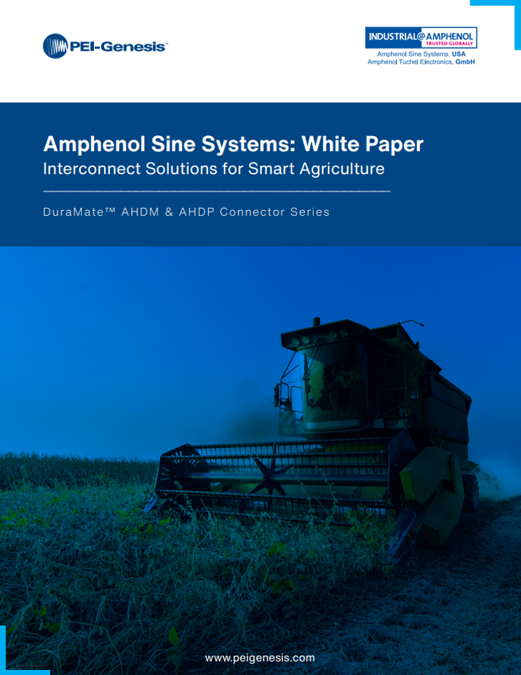 Amphenol Sine Systems Interconnect Solutions for Smart Agriculture White Paper