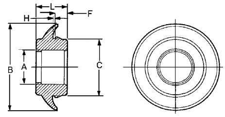 Sure-Seal® Connector Mounting Ring Dimensions